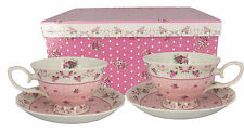 Gift Boxed Tea Cups & Saucers - Set of 2 - OZ Seller