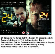 24 COMPLETE SERIES 1 - 9 DVD BOX SET + REDEMPTION + LIVE ANOTHER DAY Season DVD