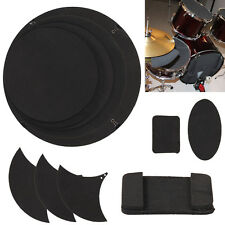 10Pcs Mute Silencer Drumming Practice Pad Bass Snare Drums Sound off/ Quiet