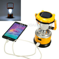 Rechargeable USB Power Bank Solar LED Lantern Outdoor Camping Fishing Light
