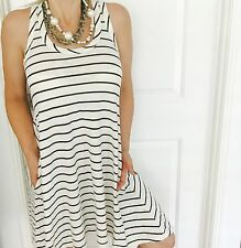 SEAFOLLY WOMENS DRESS STRIPED COTTON STRETCHY A LINE BEACH SZ S