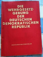 Die Wehrgesetzgebung der DDR Gesetz zur Verteidigung NVA 1962 Militär Ostalgie