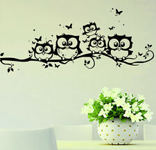home decor removable art vinyl decal owl cartoon wall sticker kids nursery room