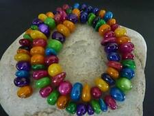 80 pce Rainbow Dyed Shell Beads Various Shapes & Colours