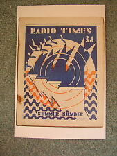 NEW Postcard Radio Times Cover 2 August 1929 Summer Hagedorn Art Deco Abstract