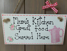 Mum's Kitchen Plaque Sign Home Birthday House Warming Gift Christmas Present