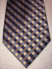 """TOMMY HILFIGER MENS TIE LIGHT BLUE WITH TAN BLACK AND BLUE PLAID  3.5"""" X 59.75"""""""
