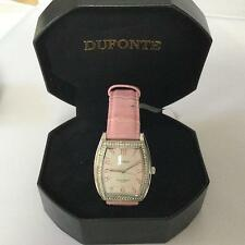 LUCIEN PICCARD DUFONTE PINK WATCH WITH SWAROVSKI CRYSTALS BRAND NEW 827046MPKCZ