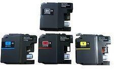 4x Tintenpatronen für Brother LC121 für MFC J285DW J650DW wiederbefüllt