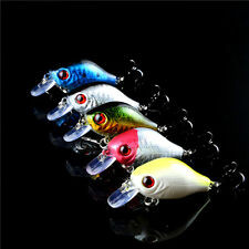 Lot 5Pcs Metal Fishing Lures Spinner Baits Crankbait Assorted Fish Tackle Hooks