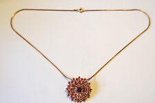 Anhänger mit Rubin Silberkette Rotgold vergoldet Silbergehalt 925,Halstuchhalter