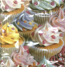 CUPCAKE SWIRL ICING Paper Napkins 33cm by 33cm - 20 in pack for parties party