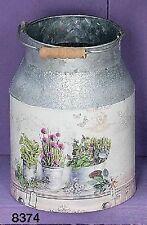 Hoff Interieur 8374 Kanne mit Henkel 14x14x19cm Übertopf Metall Vase