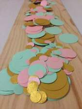 mint baby pink gold table decoration scatters confetti
