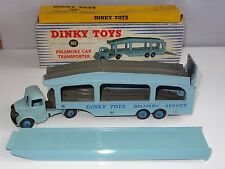 (W) Dinky PULLMORE CAR TRANSPORTER 6 RIVET FAWN DECKS & RAMP - 582 / 982