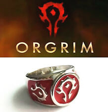 World of Warcraft Horde Logo Ring Cosplay Metal Toy Gift New In Box