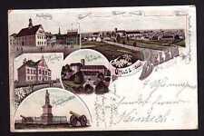 99714 AK Belzig 1897 Litho Markt Kreishaus Burg Eisenhardt Borussia Hagelberg