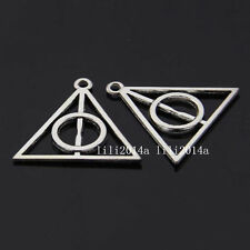 10pc Pendant Charms Triangle Deathly Hallows Connectors Jewellery Making PL335