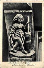 GOSLAR Harz AK Niedersachsen Postkarte um 1940 Butterhanne Skulptur Brusttuch