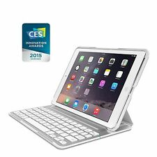 Belkin QODE Ultimate Pro Keyboard Case Stand Cover for Apple iPad Air 1st White