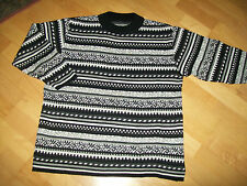 Pullover, schwarz/weiß/grau, Gr. 4o/42