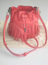 "SASS & BIDE ""LITTLE CHI"" SMALL DUFFLE LEATHER SHOULDER BAG in Rose RRP$590"