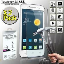 2 Pack Premium Real Tempered Glass Film Screen Protector for Alcatel Pop 4