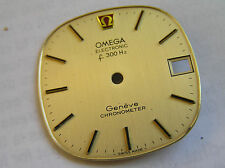 omega geneve f-300--hz electronic gold dial