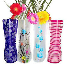 New Colorful Plastic Foldable Vase Flower Wedding Party Home Office Decor 1PC