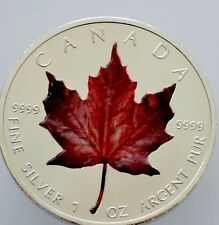2013 1Oz .999 Canadian Silver Maple Leaf  Colored  Silver Coin