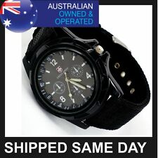 BLACK MENS SWISS MILITARY ARMY WATCH Sports Wrist Infantry Tactical Gear T1