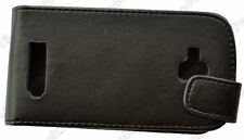 Black Leather Cover Pouch Flip Case For Nokia Lumia 610