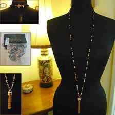 NEW MIMCO DISCOVERY TASSEL NECKLACE in BLACK & ROSE GOLD +Dbag RRP $159 SALE $79