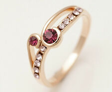 10K Yellow Gold Filled Amethyst Women's Jewelry Ring P127 SizeP