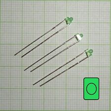 10X Led (1,8mm, diffusion/ tinted) green + Resistance EB0332