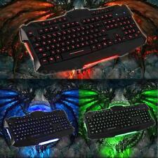 LED Tastatur Keyboard beleuchtet Backlight USB Kabel Gamer Gaming für PC Laptop