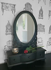 Chic Black DRESSING TABLE MIRROR French style belgravia shabby / chic