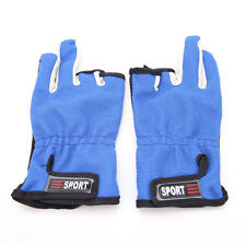 1 Pair 3 Cut Finger Anti Slip Skidproof Breathable Gloves Outdoor Fishing Gloves