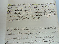Handschrift um 1850: Theorien KONSTITUTIONELLE MONARCHIE in Württemberg. Unikat!