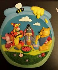 Brand New lovely Winnie the pooh 3D ceramic wall plaque nursery/childs bedroom