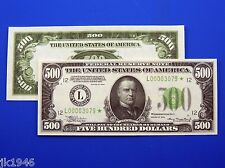 Reproduction $500 1934 FRN US Paper Money Currency Copy