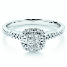 Special Offer..!! 0.50Ct Princess Diamond Halo Set Engagement Ring in White Gold