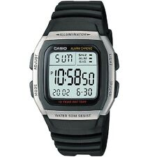 Casio W-96H-1AV Silver Black Digital Watch W96H-1AV with Box Included