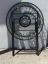 FRENCH DESIGN garden coffee black FOLDING TABLE  wrought iron quality SUPERB