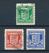 Guernsey Mi-Nr: 1-3 gestempelt, Freimarken Wappen