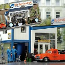 Busch Tire Shop with Tow Truck 1062 HO Scale (suit OO Also)
