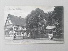 Gruss aus Mörfelden ~ 1915 Gasthaus zum goldenen Apfel Gastwirtschaft Biergarten
