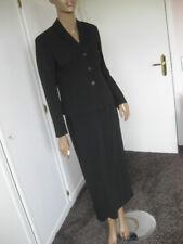 Rene Lezard Traum-Kostüm 36 schwarz  Schurwolle