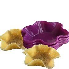 4er Set Silikon Backform Blume Flower Ø 13cm Pudding Muffin Törtchen Quinche
