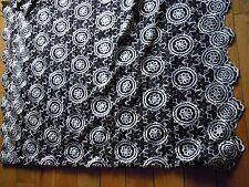 black white floral crystal dressmaking fabric 4 metre lot